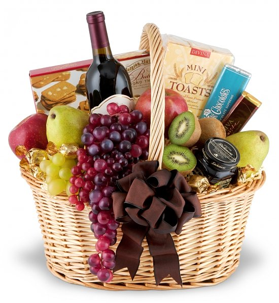 Auburn wine baskets same day delivery for Next day wine gifts